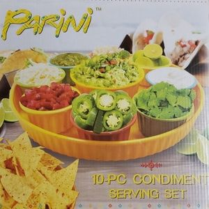 Parini 10 Piece Condiment Serving Set